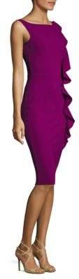 Chiara Boni La Petite Robe Asymmetrical Vertical Ruffled Bodycon Dress