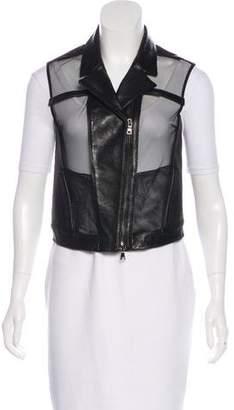 Ohne Titel Leather & Mesh Vest
