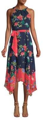 Eliza J High-Low Floral A-line Dress