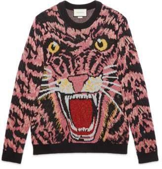Gucci Lurex wool tiger sweater