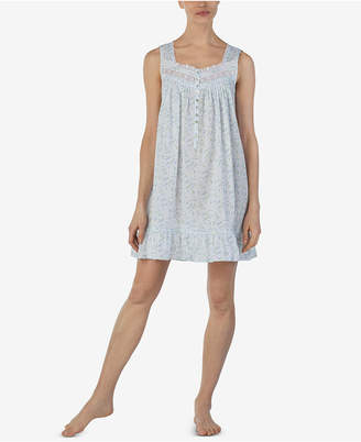 Eileen West Venise-Lace-Trim Cotton Nightgown