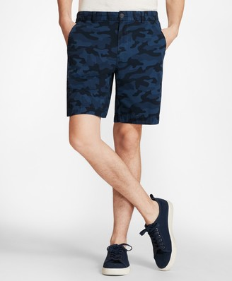 Brooks Brothers Camo-Pattern Cotton Twill Shorts