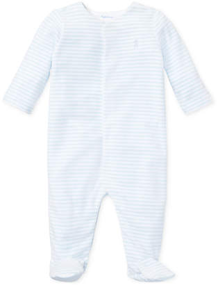 Polo Ralph Lauren Ralph Lauren Baby Boys Striped Velour Coverall