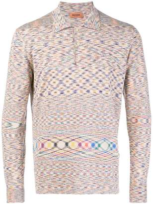 Missoni abstract patterned polo top