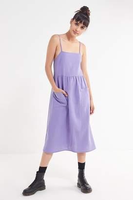 Urban Renewal Vintage Remnants Linen Babydoll Midi Dress