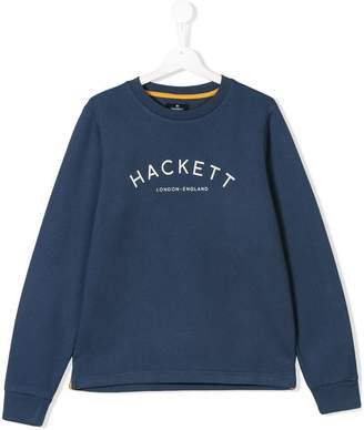 Hackett (ハケット) - Hackett Kids TEEN logo print sweatshirt