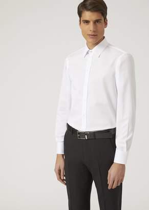 Emporio Armani Shirt In Micro-Woven Cotton