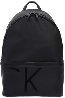 Calvin Klein Logo Embossed Coated Fabric Backpack