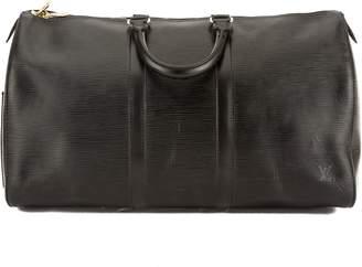 Louis Vuitton Noir Epi Leather Keepall 45 Boston Bag (Pre Owned)