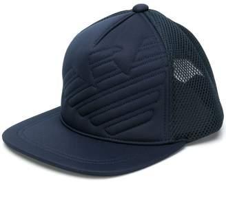 Emporio Armani embossed logo baseball cap