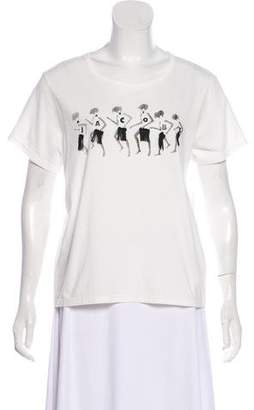 Marc Jacobs Printed Short Sleeve Top w/ Tags