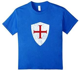 Crusaders Knights Templar Shield Cross T-Shirt