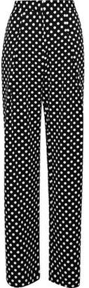 Walter W118 By Baker Kris Polka-Dot Twill Wide-Leg Pants
