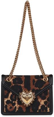 Dolce & Gabbana Devotion Jacquard Fabric Shoulder Bag