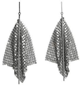 MANGO Chain mail earrings