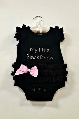 Ganz Black Dress Baby Onesie