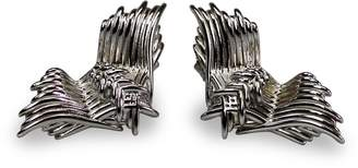 Bellus Domina - Angel Wings Earrings White Gold Plated