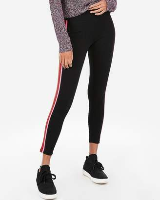 5ca8e6a179ef8 Express Sexy Stretch High Waisted Rainbow Side Stripe Ankle Leggings