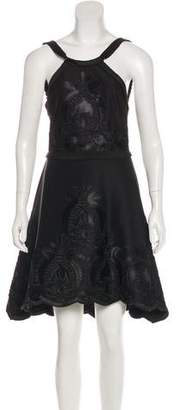 Alexis Satin-Trimmed Neoprene Dress