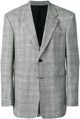 Versace checked oversized blazer