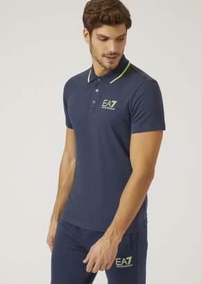 Emporio Armani Ea7 Polo Shirt In Technical Fabric