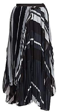 Sacai Women's Pleated Midi Skirt