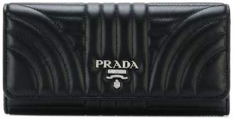 Prada quilted continental wallet