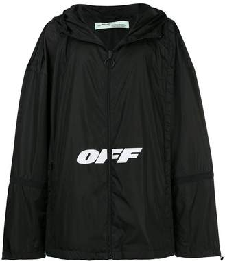 Off-White printed shell jacket