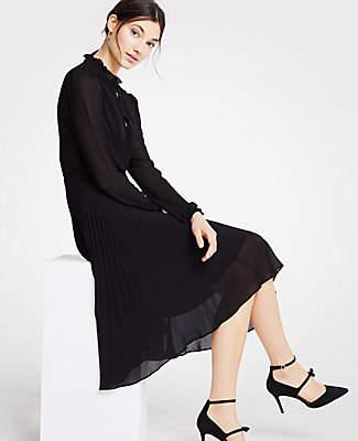 Ann Taylor Tall Pleated Flare Dress