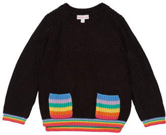 Design History Girl's Rainbow Pocket Sweater, Size 2-6X