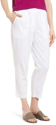 Eileen Fisher Tapered Organic Cotton Crop Pants