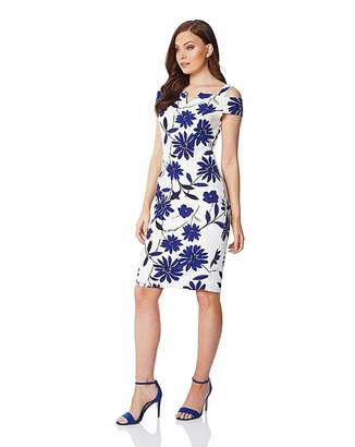 6d5ca052c Roman Originals Roman Cold Shoulder Floral Scuba Dress