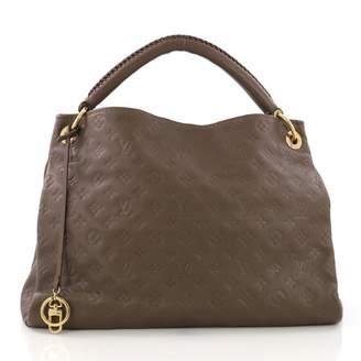 Louis Vuitton Artsy Brown Leather Handbag