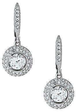 Nadri Pave Leverback Drop Earrings