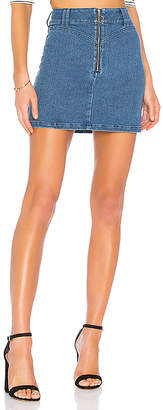 Finders Keepers Slide Denim Skirt.