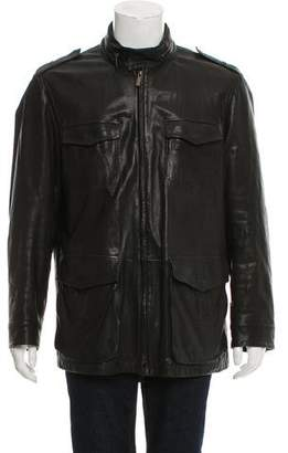 Armani Collezioni Leather Utility Jacket