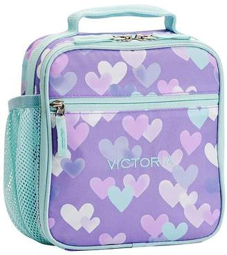 Pottery Barn Kids Mackenzie Lavender Aqua Cascading Hearts Backpacks 88c9496717ada