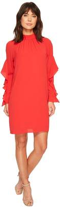 Maggy London Catalina Crepe Ruffle Dress Women's Dress