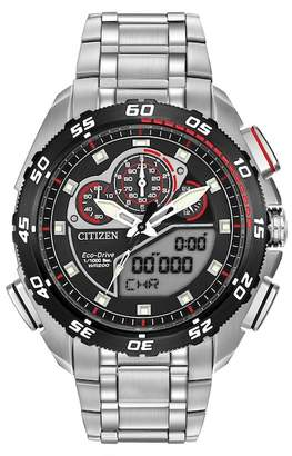 Citizen Men's Eco-Drive Promaster Super Sport Silver/Black Watch, 44mm
