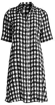 Derek Lam Women's Plaid Silk Shirtdress
