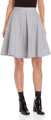 Le Mont St Michel Pleated Circle Skirt