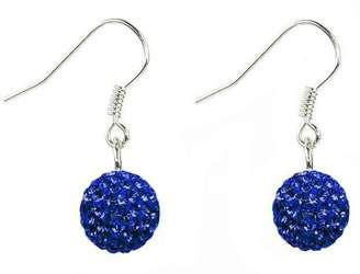Swarovski dangle crystal ball earrings by Shalalla London - available in many colors