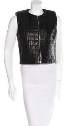 The Row Quilted Leather Vest