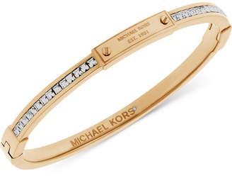 Michael Kors Pavé Crystal Logo-Plate Bangle Bracelet