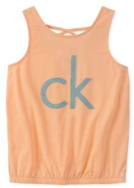 Calvin Klein Jeans Girl's Logo Tank Top