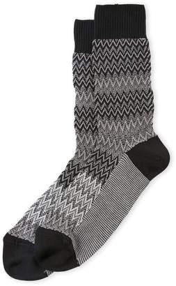 Missoni Alternating Zigzag Patterned Socks