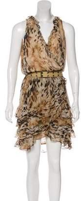 Haute Hippie Printed Silk Dress