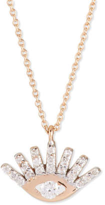 Kismet by Milka Protect Me 14K Rose Gold & Diamond Evil Eye Necklace