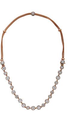 Selim Mouzannar 18K Pink Gold Convertible Diamond Necklace