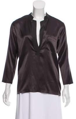 Theory Silk Long Sleeve blouse